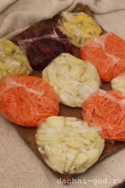 Заморозка овощей и фруктов на зиму в морозилке простыми способами